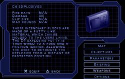 SF1 C4 Explosives Screen.png