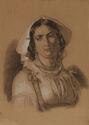 B. Bergmann - Doprsni portret žene v noši
