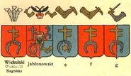 Wappen Prus III Abwandlungen a nach Chrzański publiziert durch Graf Uruski