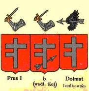Wappen Prus I Abwandlungen nach Chrzański publiziert durch Graf Uruski