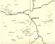 """Verteilung des Adelsgeschlechter siegelnden dem Wappen Prus II im Mittelalter (Karte B)-mgr Jadwigi Chwalibińskiej """"Ród Prusów w wiekach średnich"""""""
