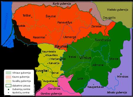 Gubernie Kaunas-Kowno in Litauen