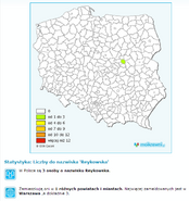 Namensverteilung Reykowska-PL