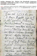 Urkunde mit Quelle