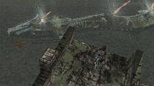 Hydrus swimming below Wander.
