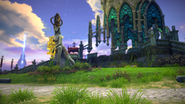 Island of Dawn - Tower Base statues