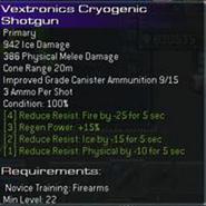 Vextronics Cryogenic Shotgun L22 prototype
