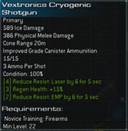 Vextronics Cryogenic Shotgun L22 experimental