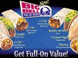 Big Bell Value Menu