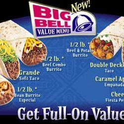 Big Bell Value Menu items