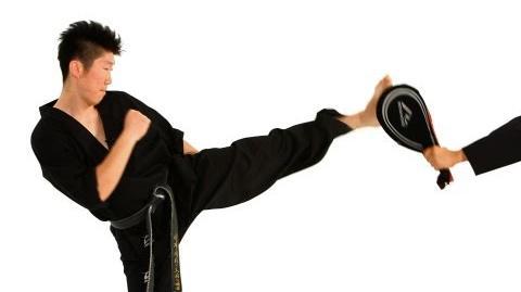 How to Do a Hop Step Roundhouse Kick Taekwondo Training