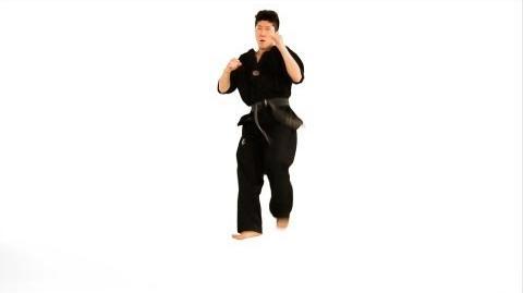 How to Do a Jump Axe Kick Taekwondo Training