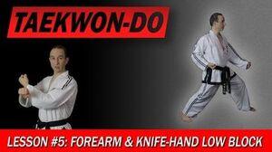 Taekwon-Do_Lesson_5_Forearm_&_Knife-Hand_Low_Block