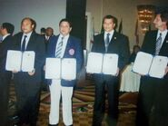 Grandmaster Jimmy R. Jagtiani, founder Taekwondo in India in 1975 standing second from the left. He is iinducted in the Taekwondo Hall of Fame with the title Father of Taekwndo in India on 10th April 2009. (2)