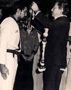 Hon'ble Minister Don Wu Chu, Republic of Korea awarded Minister's Medal to Master Jimmy R. Jagtiani, Minister Chu declared Master Jimmy Father of Taekwondo in India in 1978.