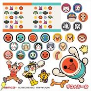 Taiko DS 2 Bachipen stickers