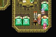 Cress ruht sich nach einem verlorenen Kampf im Kolosseum aus