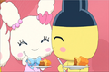 An image of Lovelitchi and Mametchi