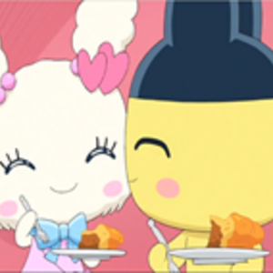 An image of Lovelitchi and Mametchi.png