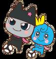 Kuromametchi and orenetchi soccer