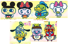 Tamagotchis cosplaying as Mickey and Co.png