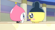 Mametchi delighted