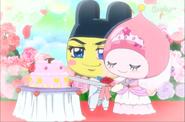 Mametchi as a groom & Himesfetch as a Bride