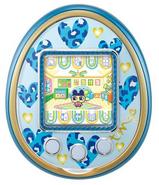 Blue 4u with blue hearts plate