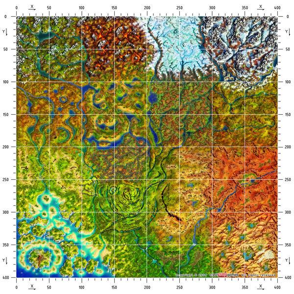 Mapa z podziałką