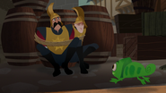 S03E03 Pascal runs up to Stan and Pete still bound to a barrel