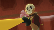 TBEA Skull Ruffian notices an incoming frying pan