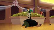 TBEA Eugene jumps on a big ruffian as he dodges