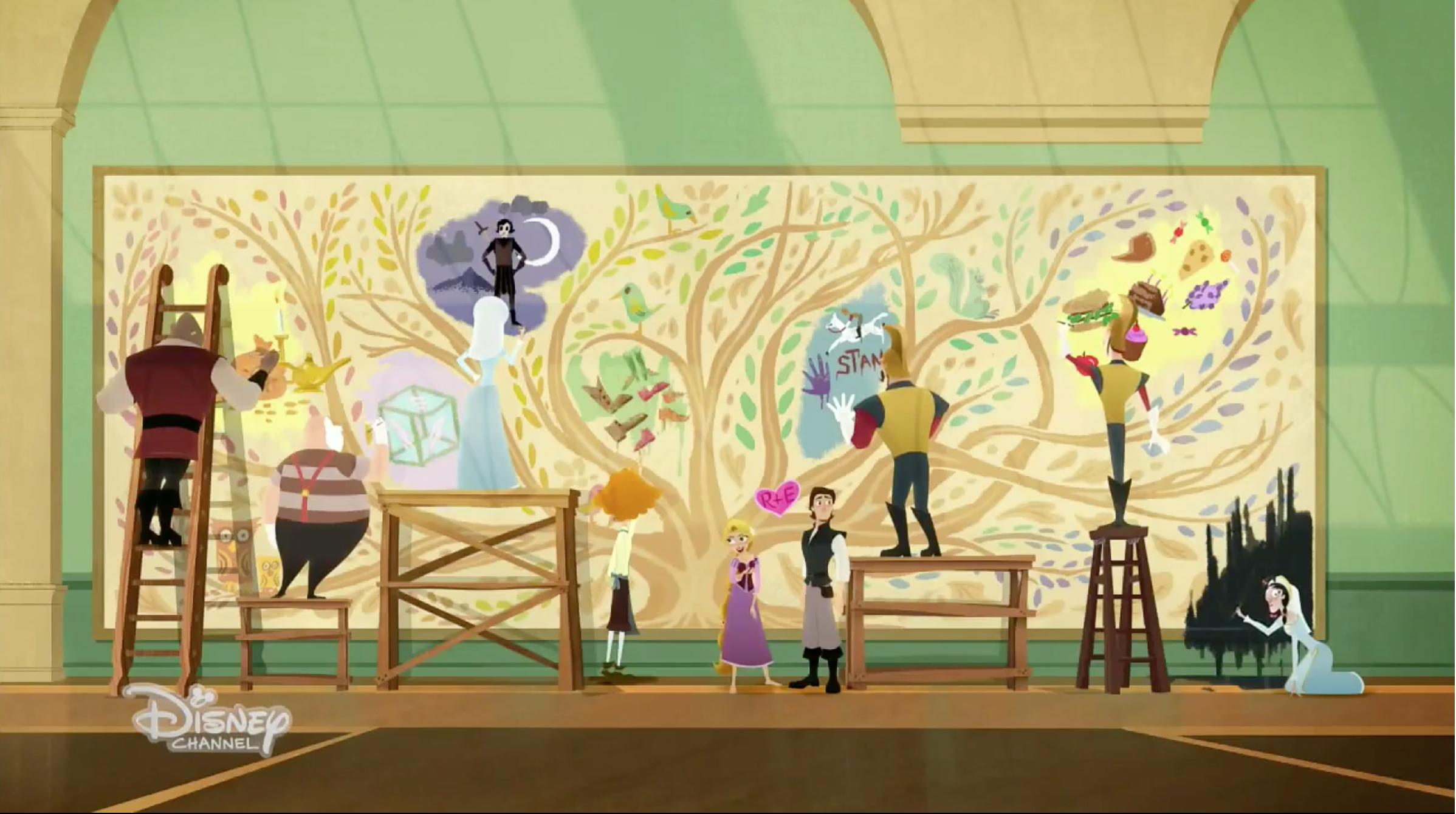 Corona Mural Tangled Wiki Fandom