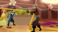 TBEA Skull ruffian grabbing Rapunzel's hair