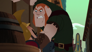 S03E03 Sideburns angrily grabs the guards