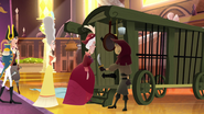 TBEA Royal guests being forced to enter the carriage