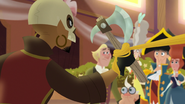 TBEA Rapunzel's hair stops him to attack the guests