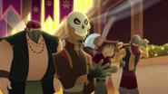 TBEA Skull Ruffian brings his mini axe to attack the guests