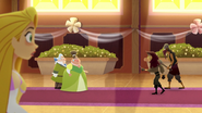 TBEA Rapunzel sees trouble from the guests being attacked by thugs