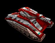 Blood red titan firebird