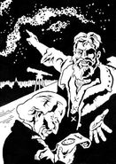 Galileo points to the stars
