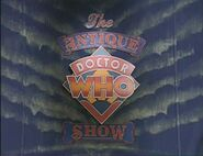 The Antique Doctor Who Show title card