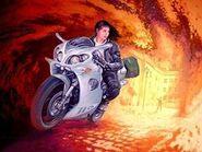 Dorotheé flees Paris on her Time bike