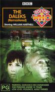 The Daleks remastered VHS Australian cover