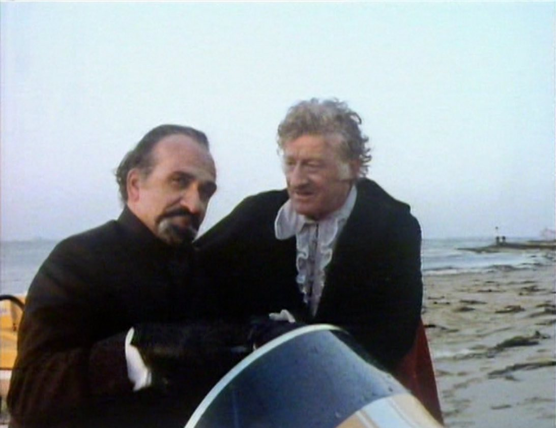 The Doctor and Master post-water chase.jpg