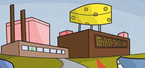TARDIS cheese factory