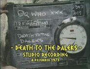 Death to the Daleks Studio Recording
