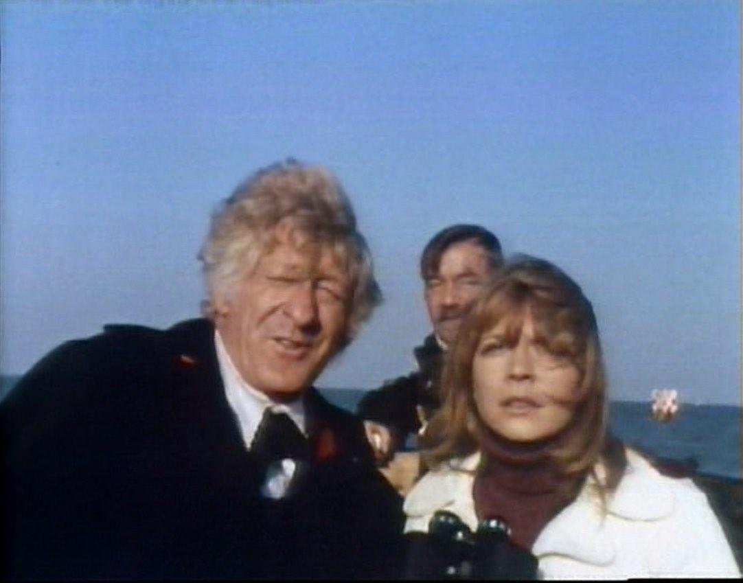 Doctor and Jo on boat approach prison.jpg