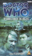 Resurrection of the Daleks VHS UK rerelease cover
