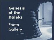 Genesis of the Daleks Photo Gallery